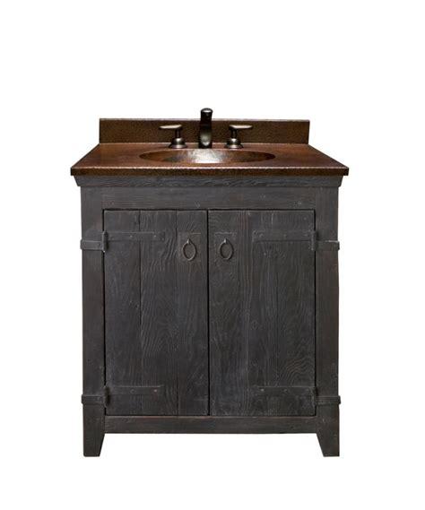 30 Inch Single Sink Bath Vanity with Copper Top UVNTVNB30830