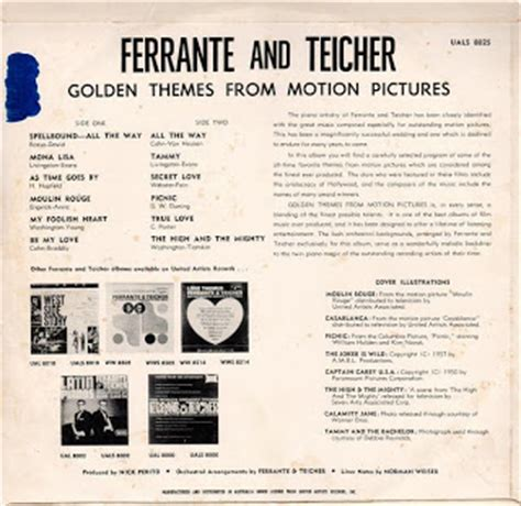 themes from motion pictures my music golden themes from motion pictures ferrante