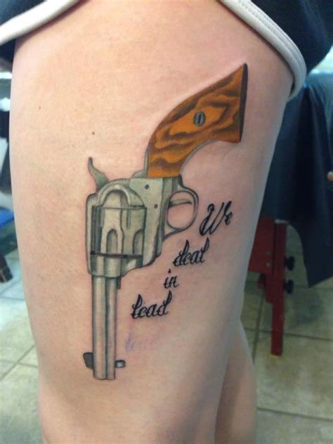 six shooter gun tattoo by conor yelp