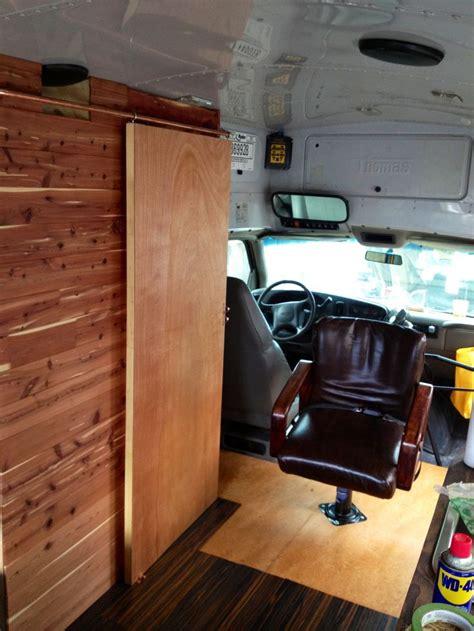 diy sliding bathroom door best 1291 bus conversions campers etc images on