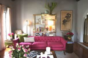 Pink and gray living rooms design ideas