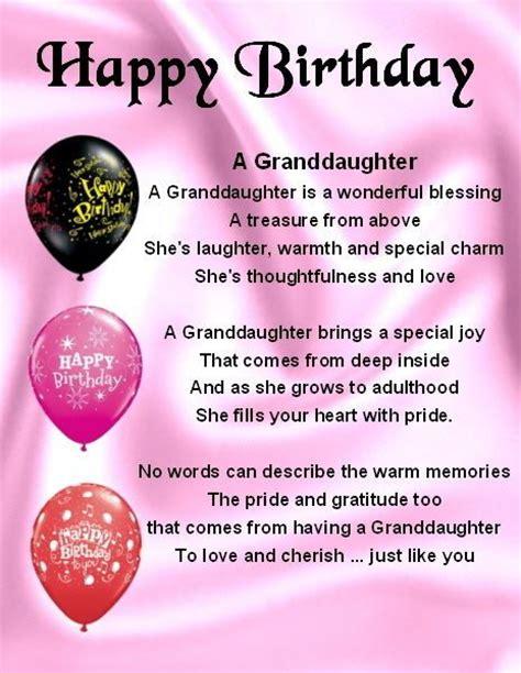 printable birthday cards granddaughter fridge magnet personalised granddaughter poem happy