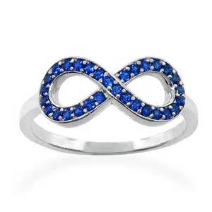 Infinity Sapphire Ring Blue Sapphire Infinity Ring