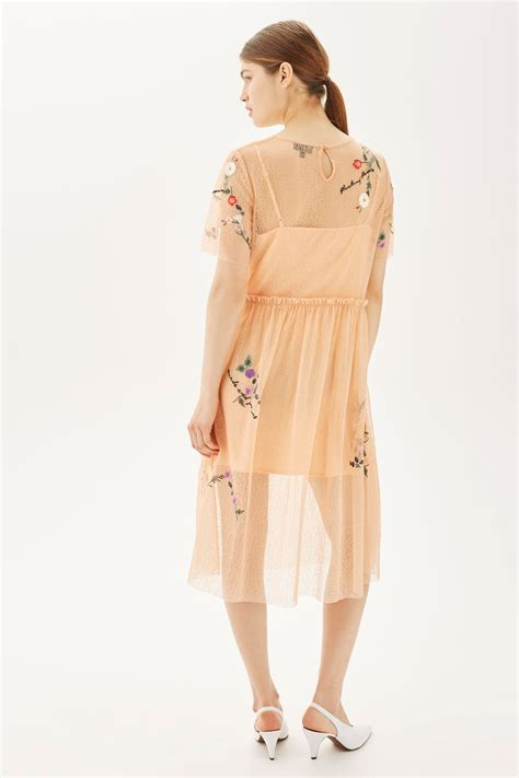 Shamlan Dress By M E embroidered mesh midi dress new in fashion new in