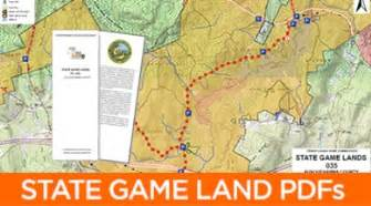 Pa State Game Lands Map by State Game Lands