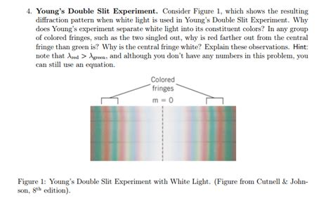 diffraction pattern of white light young s double slit experiment consider figure 1