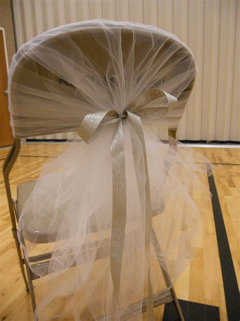 tulle chair sashes diy decorating hideous chairs advice project wedding