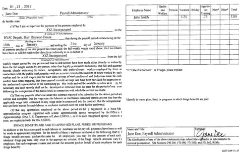 compliance statement template how to successfully complete a contractor payroll record