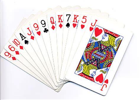 of cards arranging bridge card in part 1