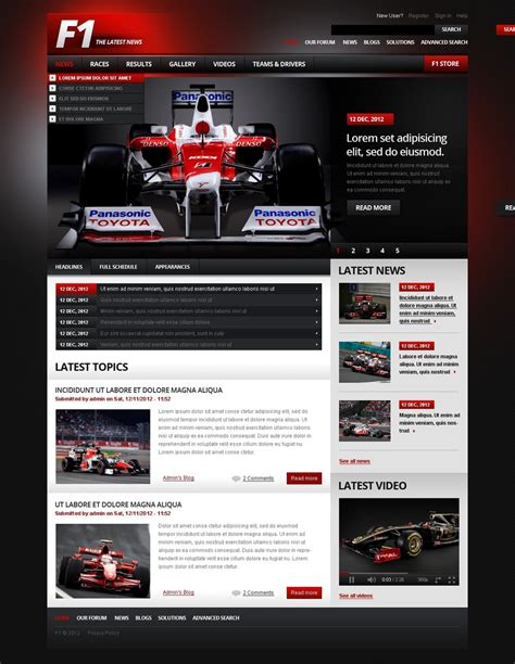 motorsport templates car racing drupal template 39994