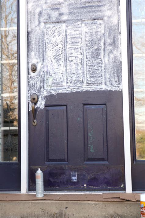 painting an exterior door how to paint a metal door