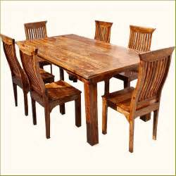 7pc kitchen dining table for 6 chairs set solid