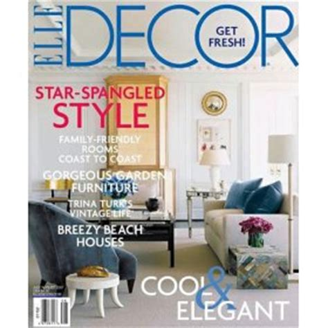 home decor magazines list elle decor magazine subscription for 4 50 saving with