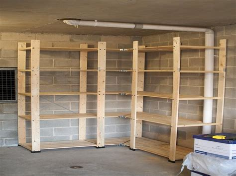 Shelf Building by Ideas Organize The Garage Shelf Plans Garage Shelving