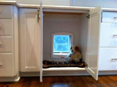 doggie door hidden  cabinet    dog run