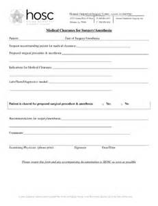 clearance for surgery template clearance form fill printable fillable