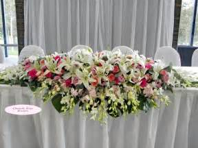 Table Arrangements by Wedding Flower Arrangements For Long Table 224 My Vow