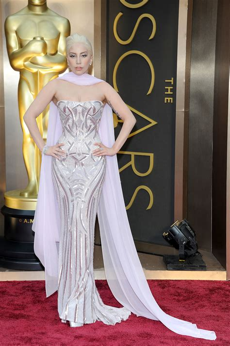 The Oscars Liveblog At Catwalk Shiny Shiny by Gaga At The 2014 Oscars Who Wore What See Every