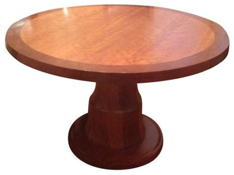 Two Tone Wood Dining Table 48 Quot Solid Two Tone Wood Table