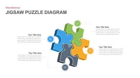 jigsaw puzzle template powerpoint jigsaw puzzle diagram powerpoint and keynote template