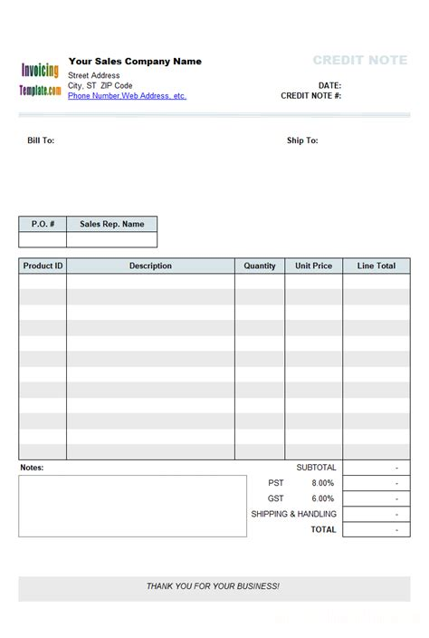 credit note template doc credit note template doc debit note template free invoice templates for excel pdf