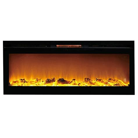 Recessed Electric Fireplace Reno 60 Inch Log Built In Recessed Wall Mounted Electric Fireplace