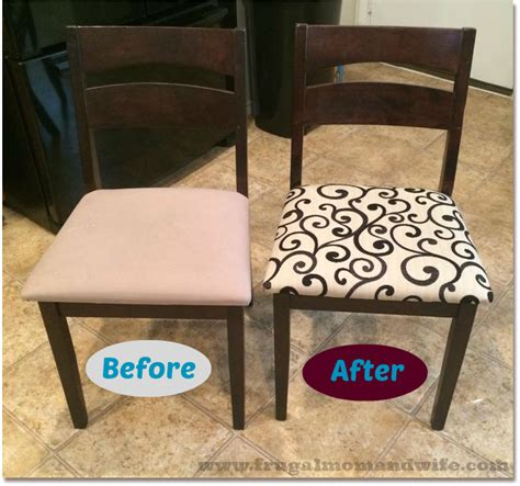 How To Reupholster Kitchen Chairs by Frugal And How To Reupholster Kitchen Dining