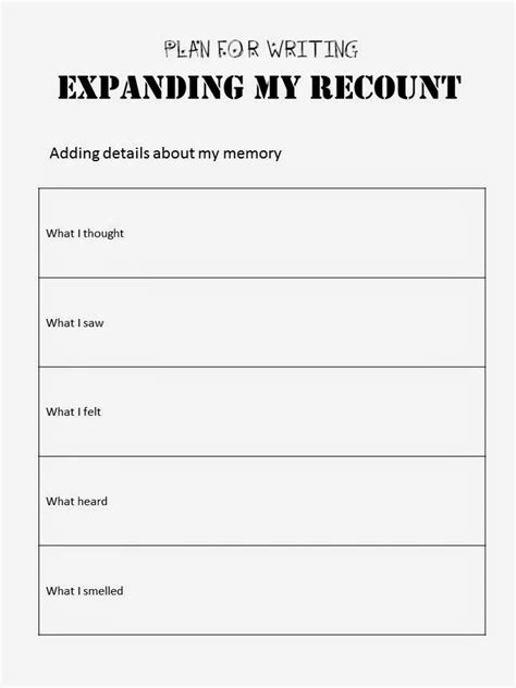 recount template recount writing template year 2 texts recount writing