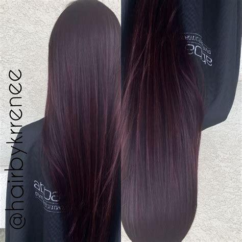 hair with purple tint deep plum purple tint hair hairstyles pinterest