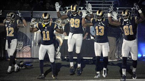 st louis rams disagree apology for players ferguson gesture abc news