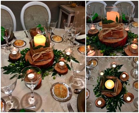 Natural Christmas Table Centerpieces - diy christmas candle centerpieces 40 ideas for your table