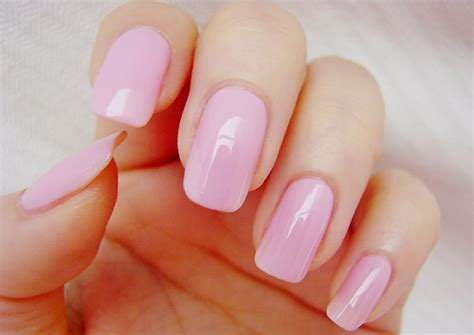 light pink nail