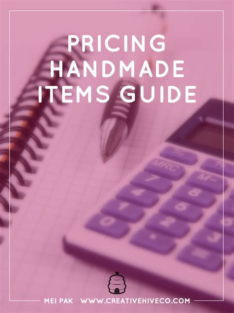 Pricing Handmade Items - pricing handmade items guide
