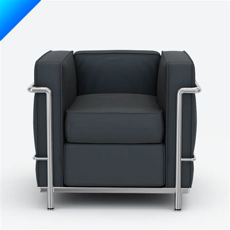 lc2 armchair 3ds max le corbusier lc2 armchair