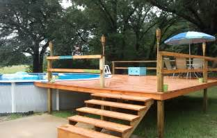 above ground pools decks designs above ground pool with deck nj landscaping gardening ideas