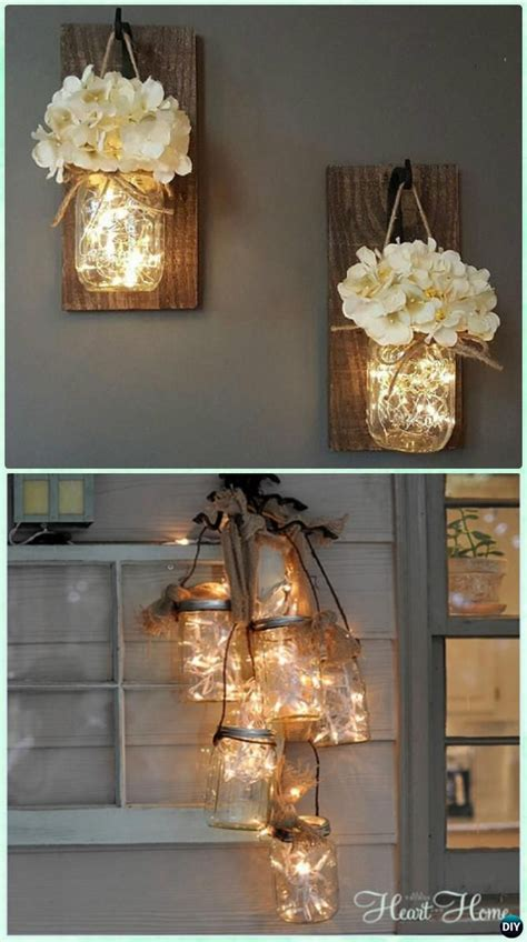 diy christmas mason jar lighting craft ideas instructions
