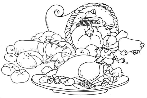 coloring page thanksgiving dinner turkey dinner coloring pages