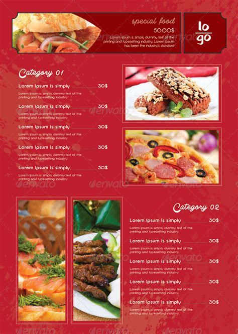 menu card design layout 25 restaurant menu card design templates
