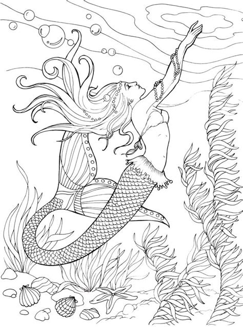 mermaids for adults coloring pages 929 best images about adult colouring under the sea