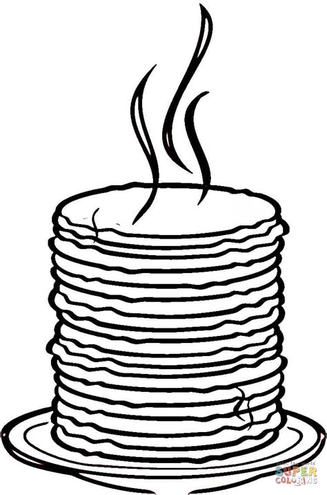 pancake coloring pages loads of pancakes coloring page free printable coloring