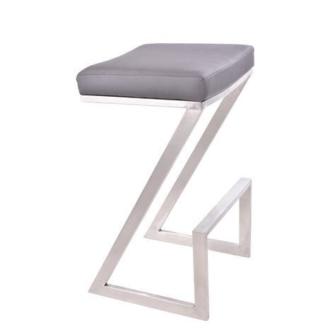28 Inch Backless Bar Stools by Armen Living Atlantis 30 Inch Backless Bar Stool Grey