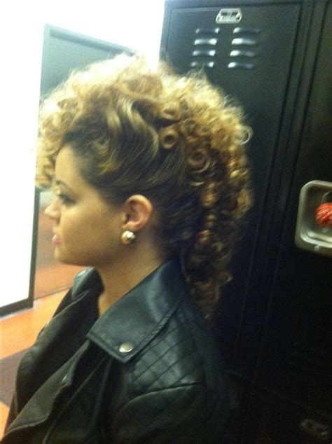 mohawk hair pieces curly mohawk i did curly gurl pinterest curly mohawk