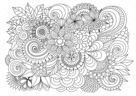 z coloring book for and adults 40 illustrations books zentangle floral background for coloring page