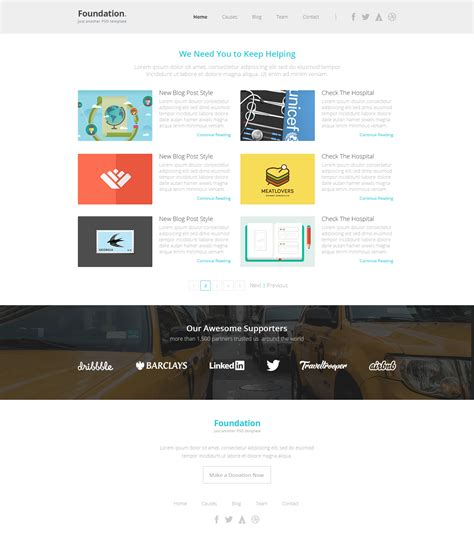 pretty foundation template pictures gt gt frio one page zurb