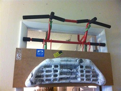 mount hangboard  doorway pull  bar
