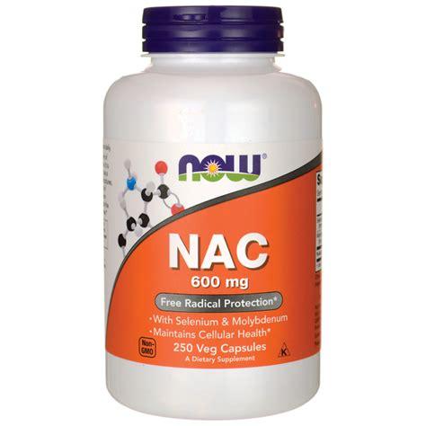 Now Nac N Acetyl Cysteine 600mg 250 Veg Capsules now foods nac n acetyl cysteine 600 mg 250 veg caps