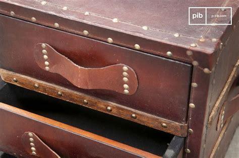 Commode En Cuir by Commode En Cuir Edgar Style Vintage Et 3 Tiroirs Pib