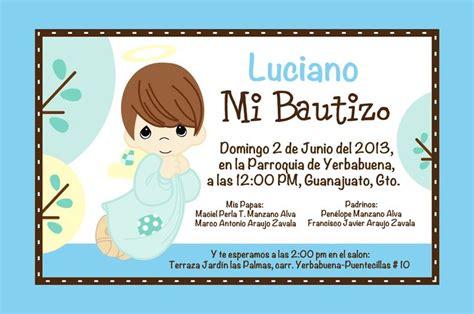 invitaciones de bautizo bautismo espanol invitacion invitacion bautizo luciano by jenny mis creaciones
