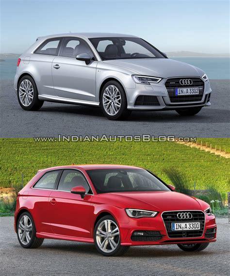 Audi A3 Sportback Unterschied by 2016 Audi A3 Hatchback Facelift Old Vs New