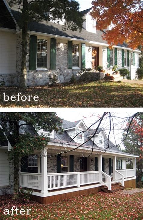 average cost to add a front porch on a ranch home before and after 7 sensational front porch additions curbly